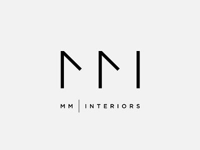 MM Interiors logo design chadomoto mmi interiors architecture logo clever simple thin mark brand