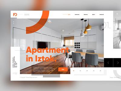 Fimera interiors website homepage redesign interior design web design fimera ux ui web design website
