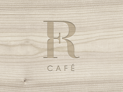 Foyer Cafe Logotype logo logotype cafe sign mark symbol french wood elegant simple emboss chadomoto dimiter petrov димитър петров