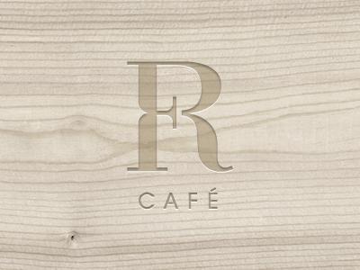 Foyer Cafe Logotype logo logotype cafe sign mark symbol french wood elegant simple emboss chadomoto dimiter petrov димитър петров