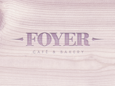 Foyer Cafe Logotype Proposal cafe emboss french logo logotype mark sign simple symbol wood lavender chadomoto dimiter petrov димитър петров