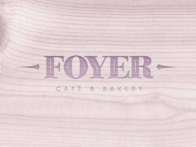 Foyer Cafe Logotype Proposal cafe emboss french logo logotype mark sign simple symbol wood lavender chadomoto dimiter petrov димитър петров