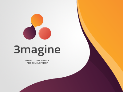 3magine Toronto Web Design Studio Logo Proposal logo logotype sign mark symbol color stylish simple emblem design creative web design toronto 3imagine idea elegant chadomoto dimiter petrov димитър петров