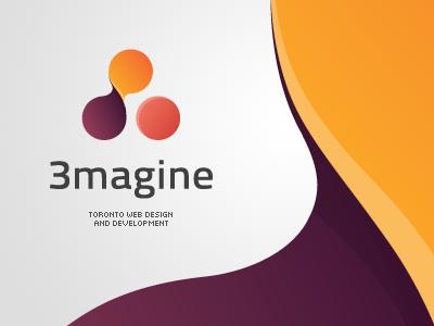 3magine Toronto Web Design Studio Logo Proposal logo logotype sign mark symbol color stylish simple emblem design creative web design toronto 3imagine idea elegant chadomoto dimiter petrov димитър петров