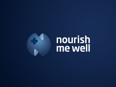 Nourish Me Well Logotype logo logotype sign mark symbol color blueberry stylish simple emblem font typography lettering design creative nourish healthy idea elegant chadomoto dimiter petrov димитър петров