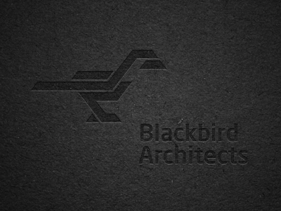 Blackbird Architects logo logotype sign mark symbol identity brand architects branding black bird simple stylish stylize chadomoto dimiter petrov димитър петров