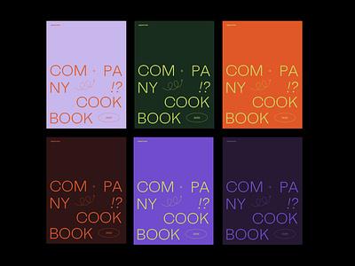 Company cookbook typography branding ui illustration design