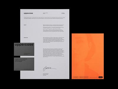UPPERCASE icons rebranding web logo typography branding ux ui design