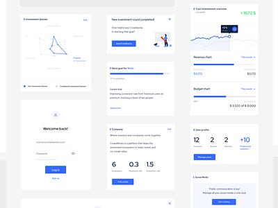 Design system for the crowdworks platform typography illustration card ux ui design