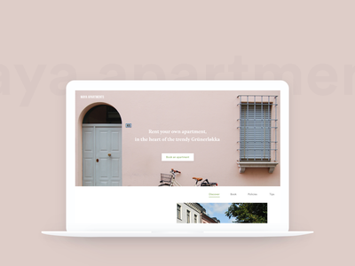 Maya Apartments descriptions icons pictures ux  ui ux website scrolling design ui