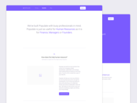 Populate Landing page Redesign