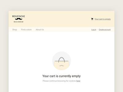 Empty Cart web moustache cart empty