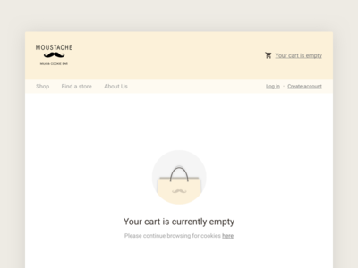 Empty Cart web moustache cart empty
