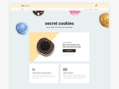 Moustache Milk & Cookie Secret Cookies Landing Page auckland theme shopify ecommerce design secret cookie milk moustache