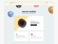 Moustache Milk & Cookie Secret Cookies Landing Page