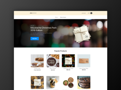 Moustache Milk & Cookie Bar Homepage banner products ecommerce homepage