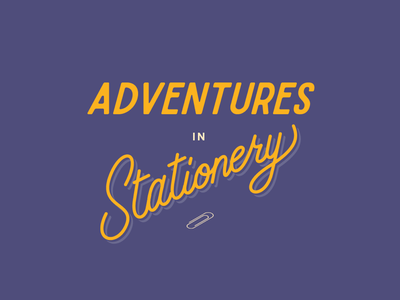 Adventures in Stationery book adventures stationery cover font type hand lettering