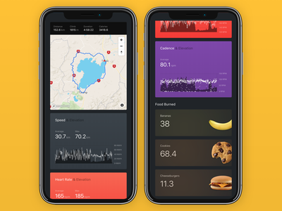 Banana - Activity View app design product strava cycling responsive banana sports