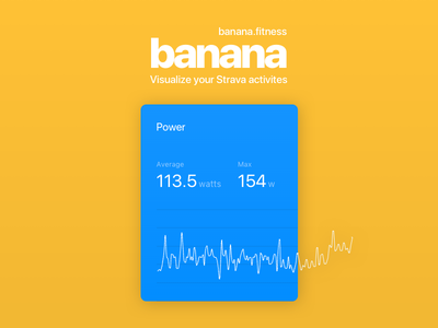 Banana - Now with Power Data sports banana responsive cycling strava product design app