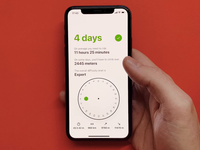 Multi-day calculator swift loading spinner xcode rotation rotate control drag tour ux route komoot calculator product design iphone interface interaction wheel best animation
