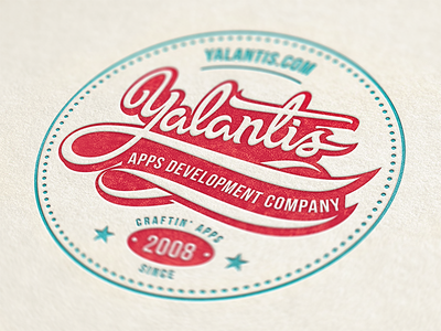 Yalantis is open for new projects best texture pattern lettering calligraphy font ipad interface app iphone ios ui logo logotype badge vintage label retro company sheet paper typography typo branding emblem mobile letterpress