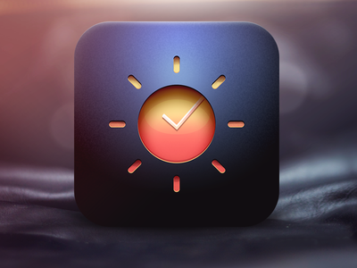 Brand New Day user interface app iphone ios ui icon sun clock watch day flat skeuomorphism