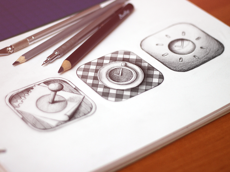 Icons Sketch best coffee cup iphone ios ui pin icon sketch draft pencil sketchbook