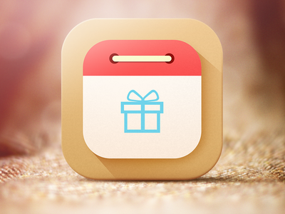 Gift Time best day flat iphone ios gift calendar icon countdown organizer 7 time