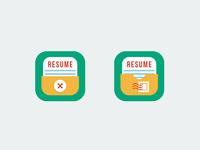 Resumebuilder icon versions