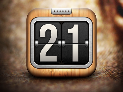 21 icon best myday texture pattern flipper countdown flip organizer number day week counter calendar ipad user interface app iphone ios ui icons icon minute hour time clock watch wood wooden wool