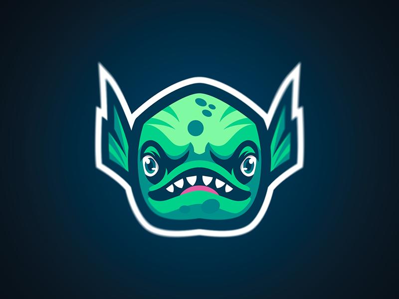 Fortnite Fish Mascot esports mascot logo fish fortnite