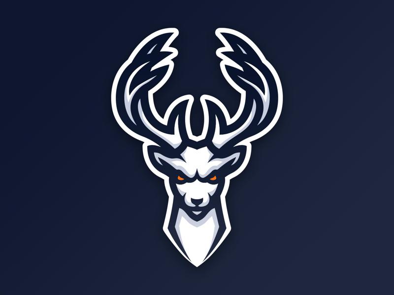 Deer esports logo mascot deer