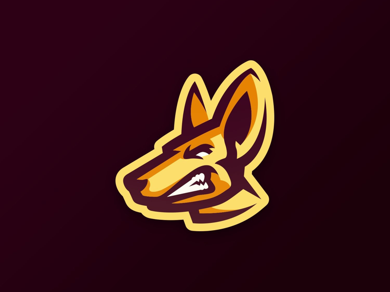 Coyote esports logo design mascot coyote
