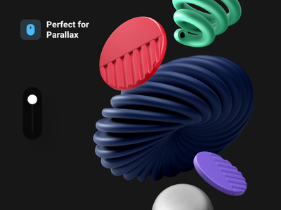 Abstract 3D Pack Vol.1 motion app objects art abstact illustration blender interaction 3d icons cinema4d c4d
