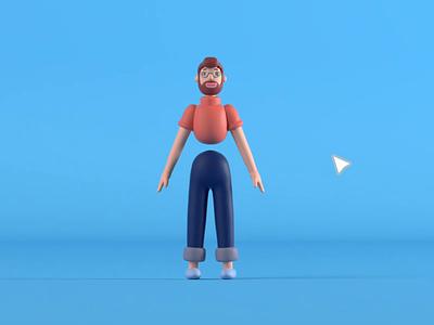 3d Character Pack icon set illustration interaction blender 3d cinema4d c4d