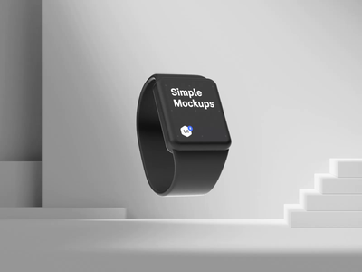 Simple Mockups 2.0 ui blender figma apple watch mockup apple watch design watch mock-up mockup icon set interaction 3d cinema4d c4d