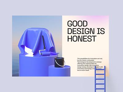 3D illustration interaction poster ladder paint branding redesign underconstruction logo landing ui illustration 3d cinema4d c4d