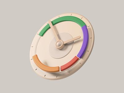 3D Icon / Time Management colors 3dillustration 3dicon 3dmodeling design illustration icons ui cinema4d 3d c4d