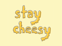 Cheesy Vector Lettering