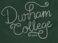 Durham College Flourish Script