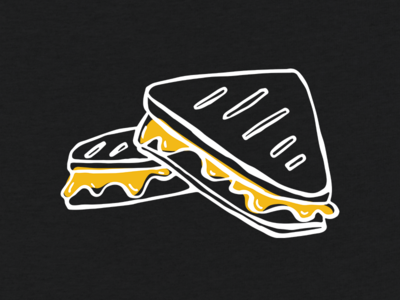 Grilled Cheese Illustration