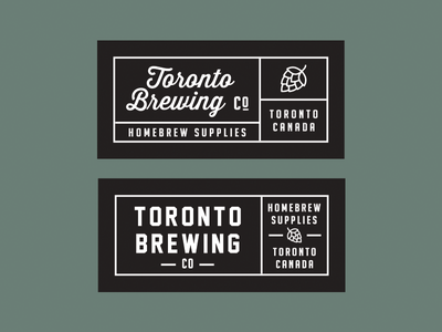 Toronto Brewing Co Woven Label lockup company canada typography label hops beer brewing homebrew toronto