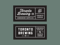 Toronto Brewing Co Woven Label