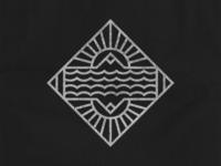 Mountains and Sun T-Shirt Design