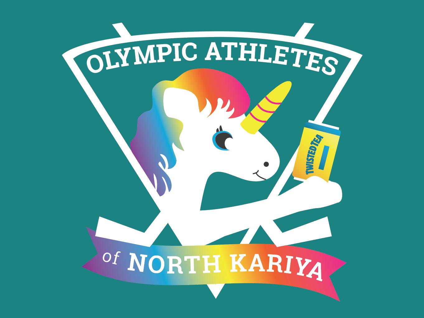 Olympic Athletes of North Kariya vector graphic design design sports hockey illustration shirt design