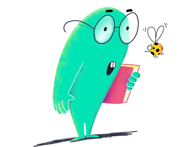 Curious monster. Character design for kids game