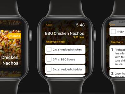 Recipe App for Apple Watch