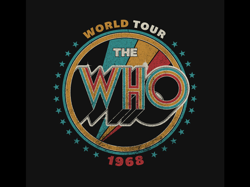 The Who Vintage streetwear music apparel print graphic design band t-shirt merchandise t-shirt band merch the who