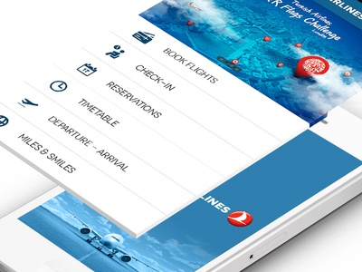 Turkish Airlines - iPhone App Redesign ios iphone app mobile turkish airlines ui ux sky