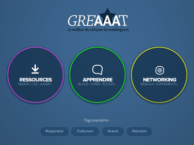 Greaaat Homepage home blue buttons